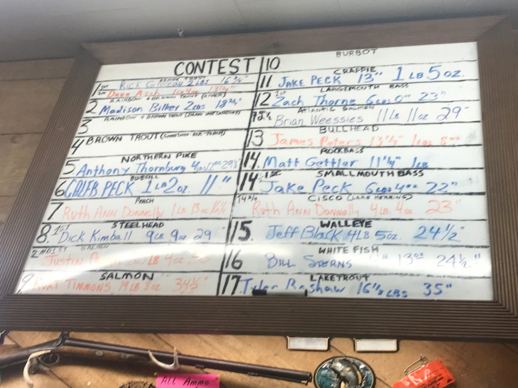 jacks score board for fishing contest